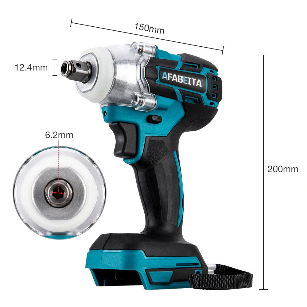 18V 520Nm Li-Ion Cordless Impact Brushless Wrench Driver 1/2Inch Electric Wrenchs Power Tool Without Battery