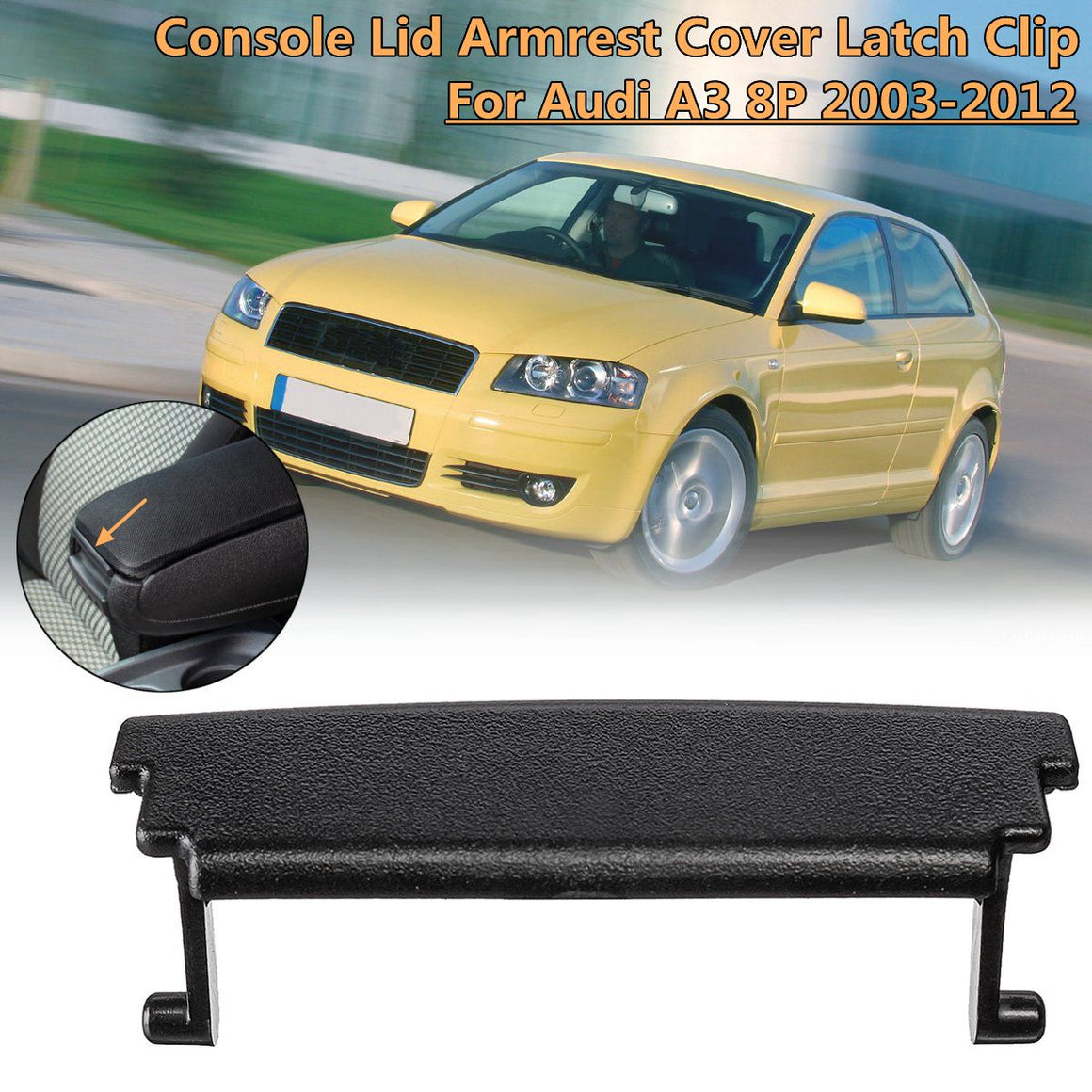 Center Console Armrest Cover Latch Clip Cover Latch Clip Catch For Audi A3 8P 2003 2004 2005 2006 2007~2012
