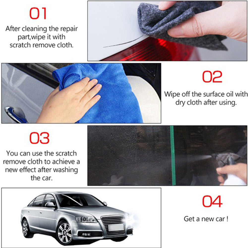 1x Fix Clear Car Scratch Nano Repair Cloth Magic Surface Repair Rags For Car Lights Paint Scratch Remover Scuffs Car Cleaner