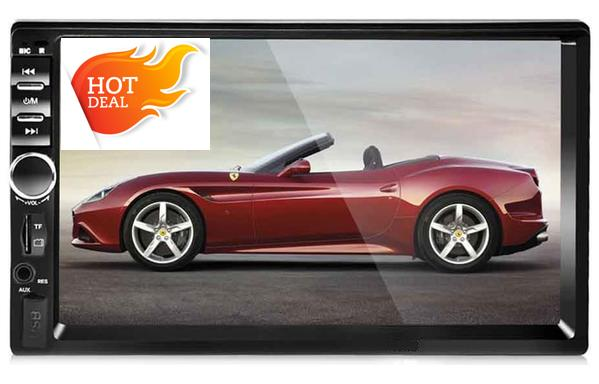 "Car Stereo 2DIN 7"" Head Unit LCD Touch Screen Bluetooth Radio Player Mirror Link Rear View Camera Support"