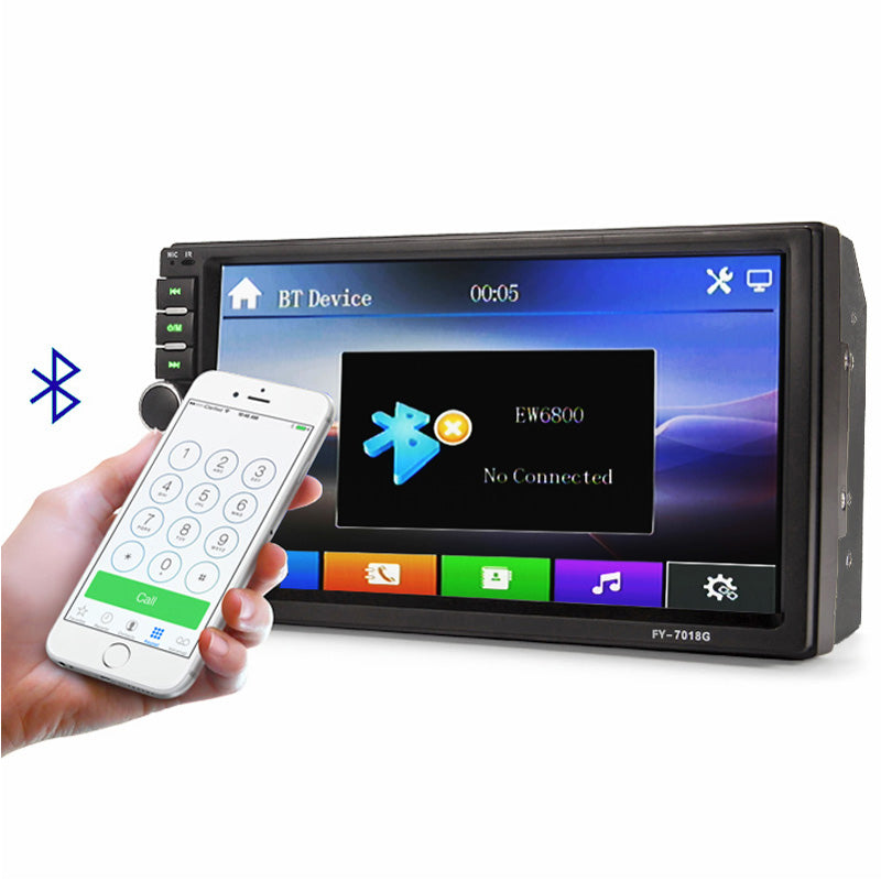 "Car Stereo Double DIN 7"" Head Unit, GPS, NZ Map, Rear View Camera, LCD Touch Screen Bluetooth Car Radio Player"