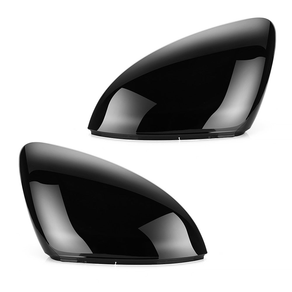 VW Golf 7 MK7 7.5 GTD R GTI Touran L E-GOLF LH Side Wing Mirror Cover Caps Black RearView Mirror Case Cover