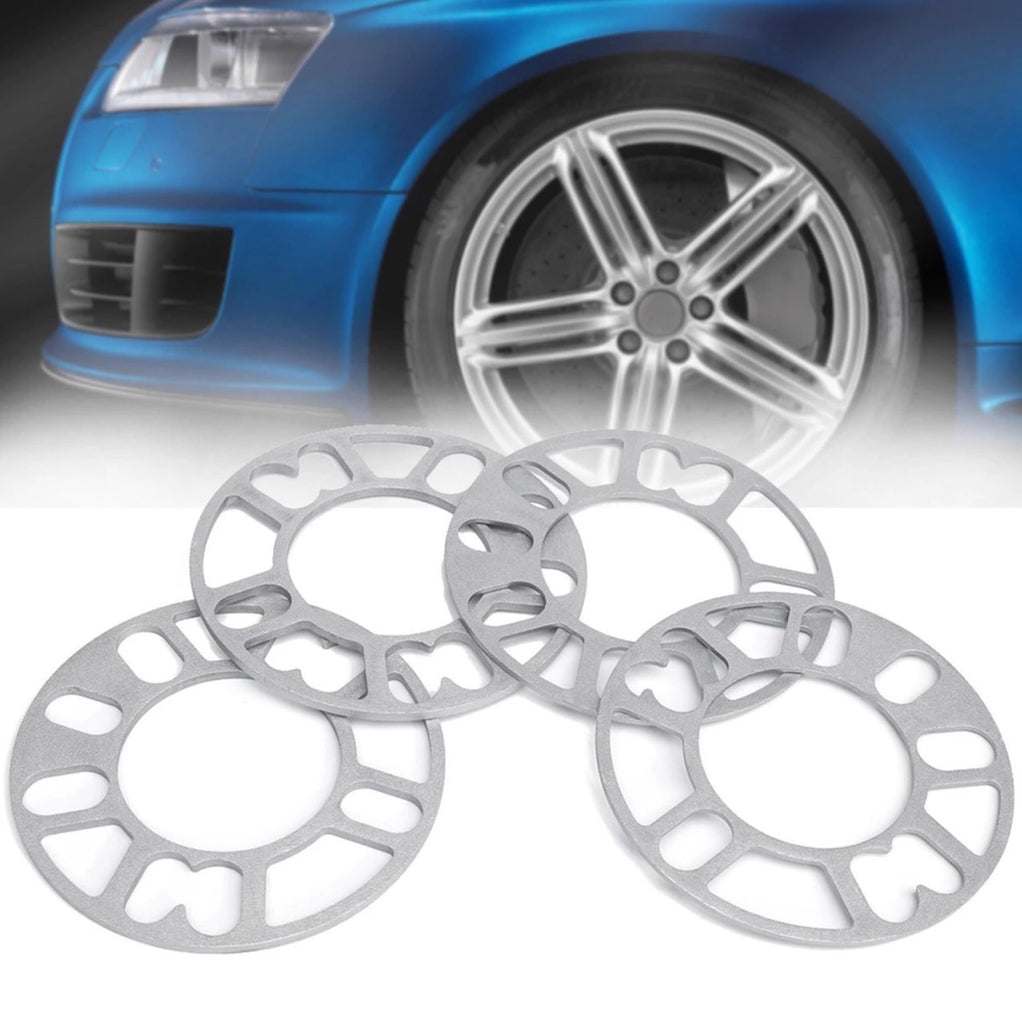 4pcs 3mm 5mm Universal Alloy Wheel Spacers Kit