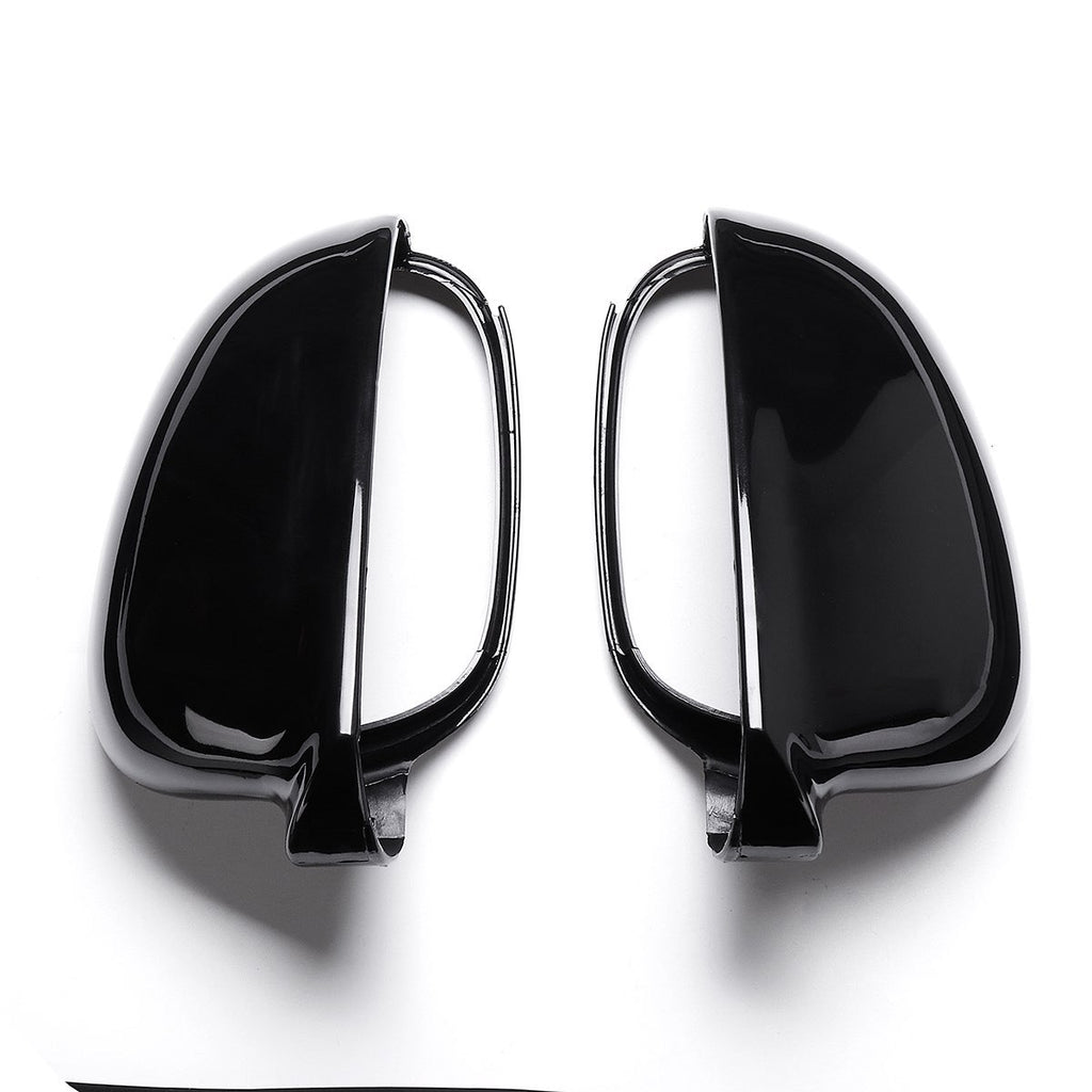 (RIGHT) Black Rearview Wing Mirror Cover Casing For Volkswagen For VW Jetta Golf MK5