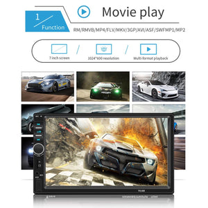 ** SPECIAL ** Car Stereo 4x45W 2 Din 7'' LCD Radio Player + Rear View Camera