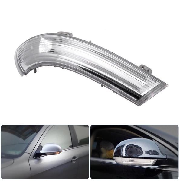 (RIGHT) Black Mirror Cover + Mirror Glass + Mirror Indicator SET For VW Golf 5 MK5