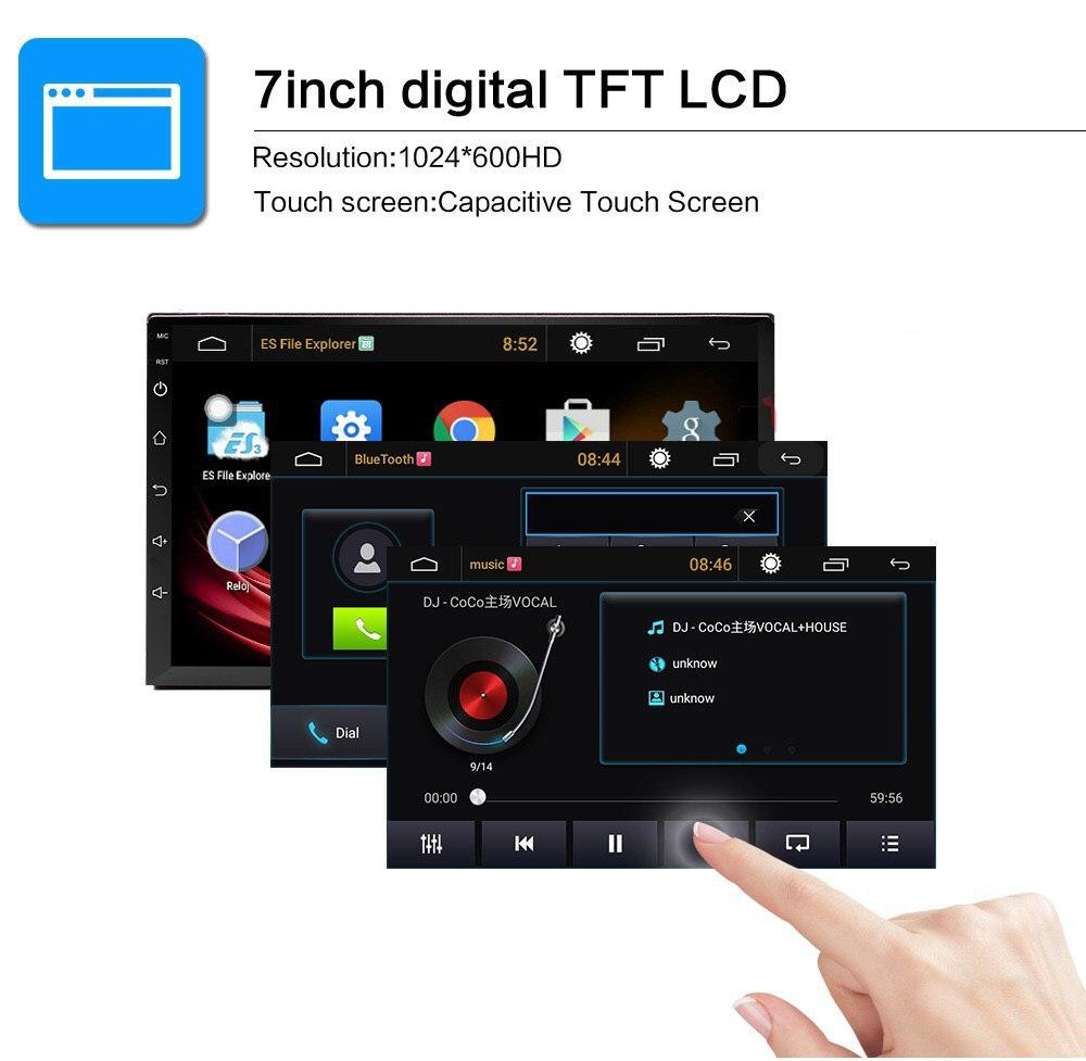 "2G + 32G Android 8.1 Car Stereo 2 DIN 7"" + Compatible with Toyota Harness + GPS NZ Map + Reverse Camera  + Hands Free Calls"