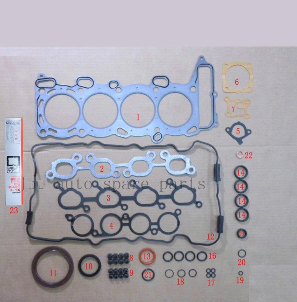 SR20DE SR20DET Engine Full gasket set kit for Nissan 100 NX/Primera/Pulsar/Serena 2.0L 1998cc 1990-2001 50110200 10101-70J25