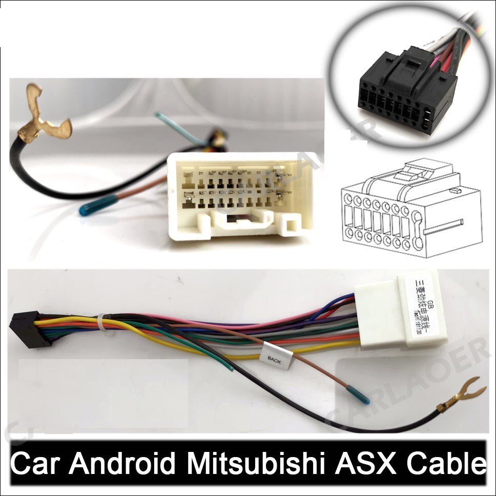 "**SPECIAL!** Android 8.1 Car Stereo 2 DIN 7"" + Mitsubishi ASX Harness, GPS Navigation, Bluetooth, USB"