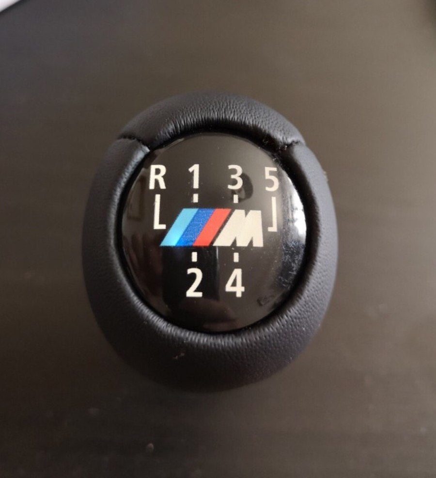 5 Speed Car Gear Shift Knob With M Logo For BMW 1 3 5 6 Series E30 E32 E34 E36 E38 E39 E46 E53 E60 E63 E83 E84 E90 E91 /