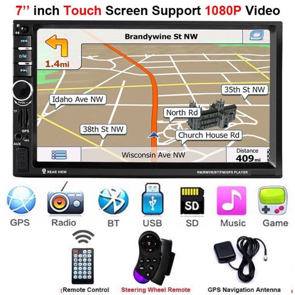 **SPECIAL** Car Stereo Double DIN Head Unit 60W x 4, GPS NZ Map, Bluetooth