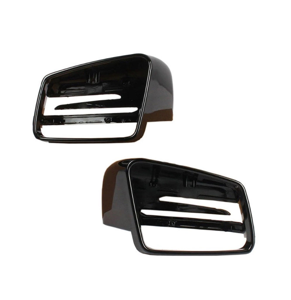 Car Wing Mirror Rearview Black Cover L & R For Mercedes-Benz C-Class W176 W246 W204 W212 W221 CLS X156 C117