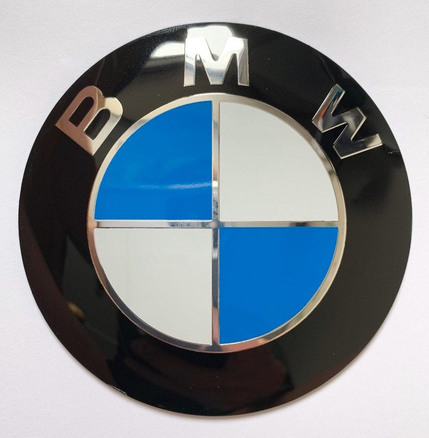 BMW Badge 82mm Bonnet Hood Self Adhesive Sticker Emblem for E46 E39 E38 E90 E60 Z3 Z4 X3 X5 X6