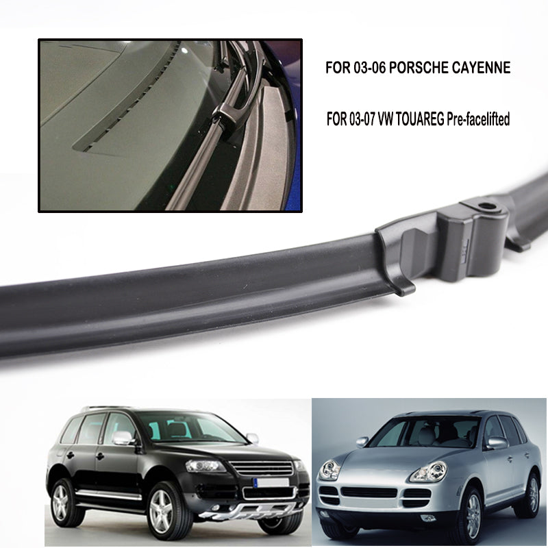 For Porsche Cayenne 2003 2004 2005 2006 For VW Touareg Windshield Wiper Blades Bracketless Windscreen Left Hand Drive