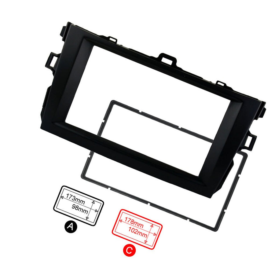 2Din Car Stereo Car Audio Fascia Plate Panel Frame For Toyota Corolla 2008-2010