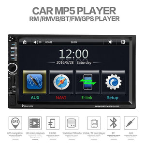 Car Stereo Double DIN Head Unit 60W x 4, GPS NZ Map, Bluetooth