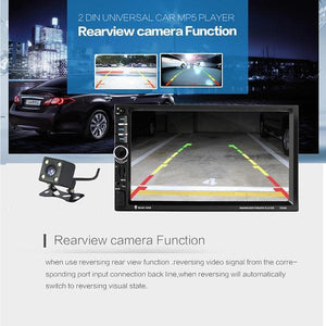 Car Stereo Double DIN Head Unit 60W x 4 with Rear View Camera, GPS NZ Map, Bluetooth, Steering wheel Control