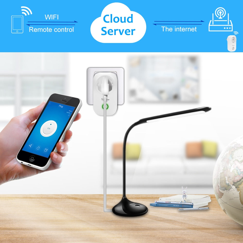 Sonoff WIFI Socket Switch Plug, Control from your Phone