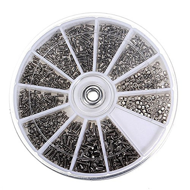 1000Pcs Screws +1PCS Multi screwdriver Stainless Steel Screws For Watch Eye Glasses Clock Repair Tool Kit