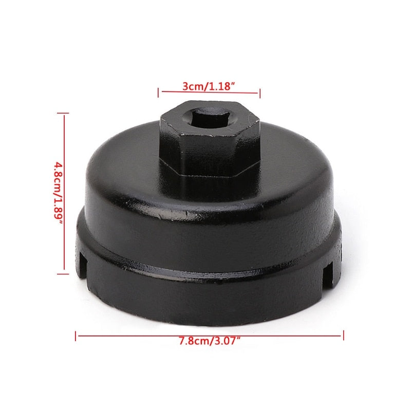 64mm Oil Filter Cap Wrench Compatible with Toyota Camry Corolla Highlander RAV4 Lexus Tool