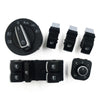 VW Headlight Window Mirror Switch kit - 6 Pcs for VW Golf 5