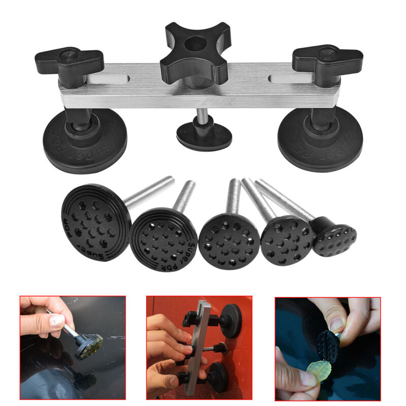 PDR Tools Removal Dent Puller Tool Kit Reflector Board Puller Tabs Glue Gun for Car Body Hail Damage Any Car Dent