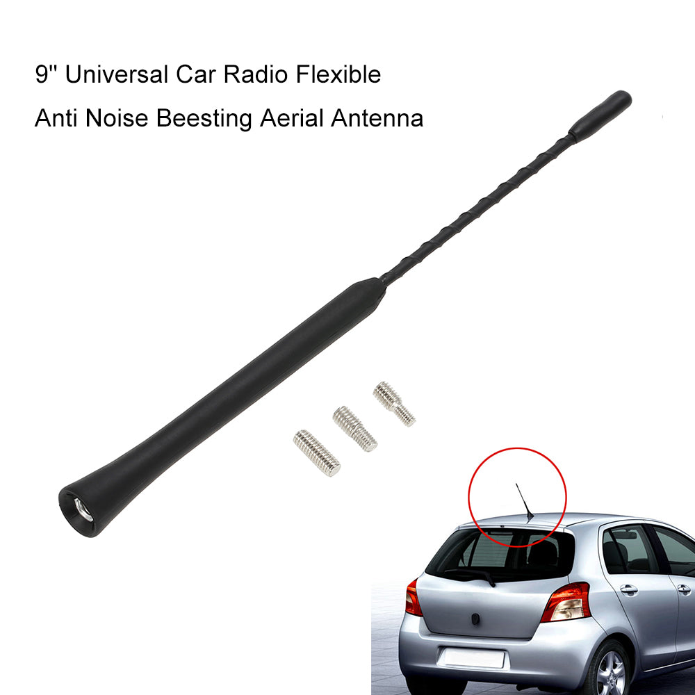 "9"" Universal Car Radio Flexible Anti Noise Beesting Aerial Antenna"