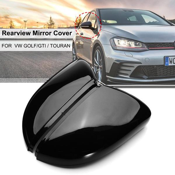 Right Side Black Door Wing Mirror Cover Cap for Golf MK6 09-13