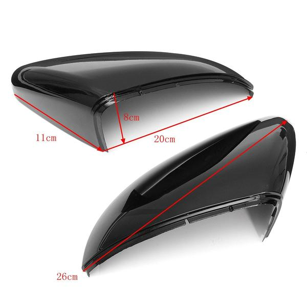 Right Side Black Door Wing Mirror Cover Cap for Golf 6 MK6 2009 2010 2011 2012 2013