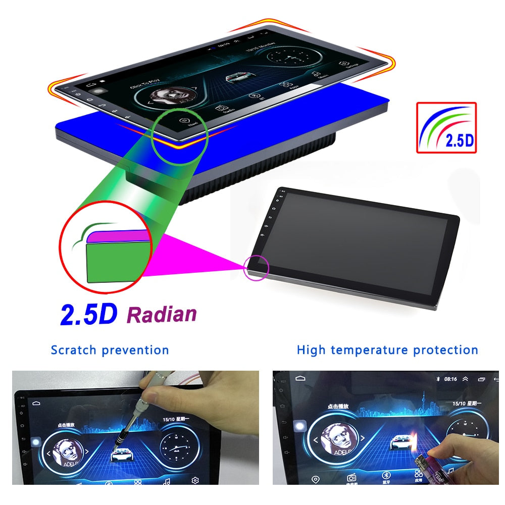 "10.1"" Car Multimedia Player 2 din Android Car Stereo Radio Bluetooth WIFI Audio Mirrorlink MP5 Player"