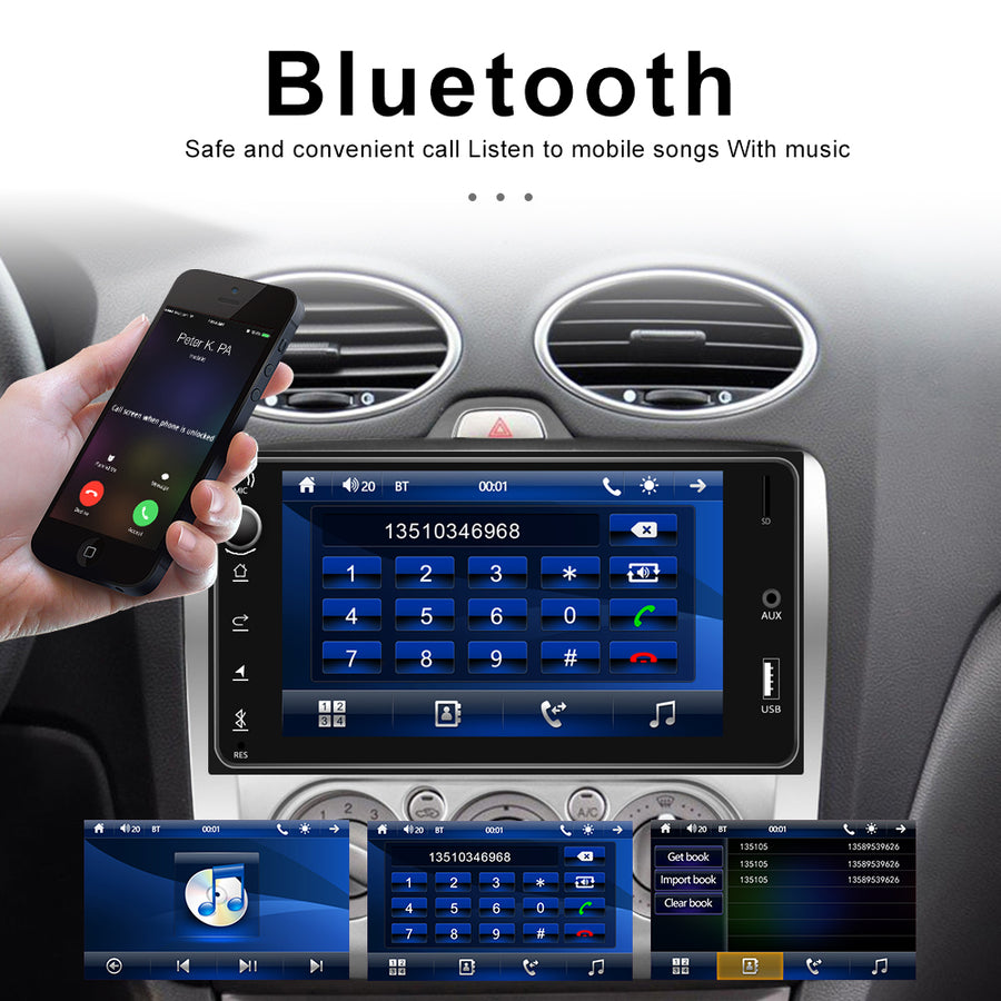 New 2 DIN 7'' inch Toyota Size Car Stereo Radio Car Audio, USB Video Player Bluetooth Head Unit