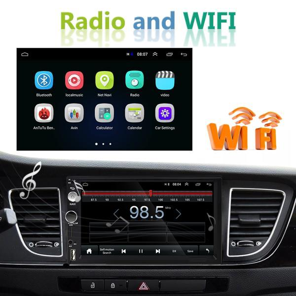 "2 DIN Car Radio 7"" Android Car Audio Multimedia Bluetooth Car Stereo + 8 IR Rear View Camera"