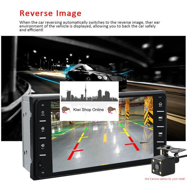 Compatible with Toyota Car Stereo Head Unit + 8IR Rear View Camera, Bluetooth, Radio, Video Player