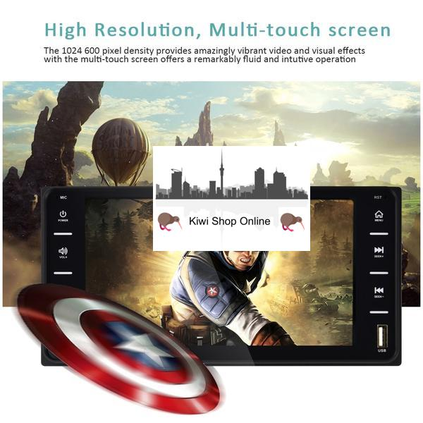 Toyota Size Car Stereo Double DIN Head Unit, Bluetooth, Hands Free, Radio, Video Player