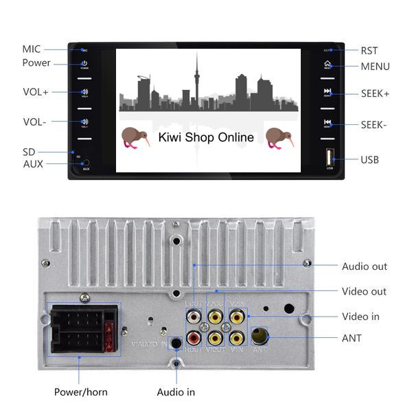 *** SPECIAL *** Compatible with Toyota Car Stereo Double DIN Head Unit, Bluetooth, Hands Free, Radio, Video Player