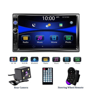 **WEEK SPECIAL** Car Stereo 4 x 60W 2 DIN 7 inch Head Unit with Rear View Camera, Bluetooth