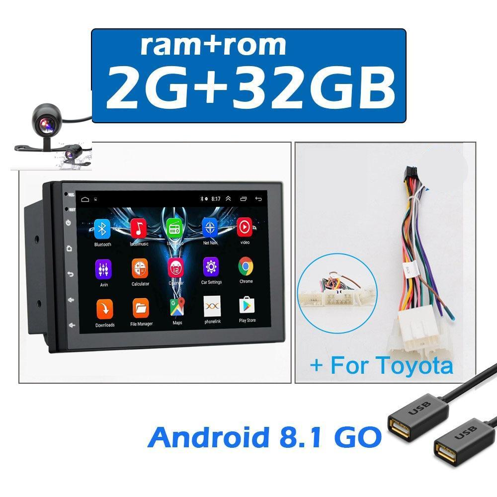 Android 8.1 2 Din Car Multimedia Video Player + Camera Universal Auto Stereo GPS MAP For Toyota CR-V