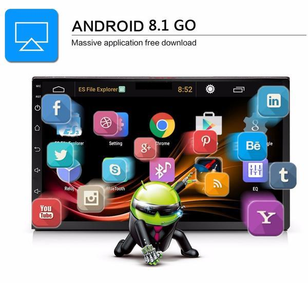 "**SPECIAL!** Android 8.1 Car Stereo 2 DIN 7"" + NISSAN Cable, GPS Navigation, Bluetooth, USB"