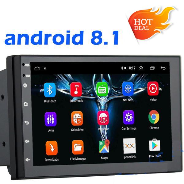"**SPECIAL!** Android 8.1 Car Stereo 2 DIN 7"" + ISO Cable, GPS Navigation, Bluetooth, USB"