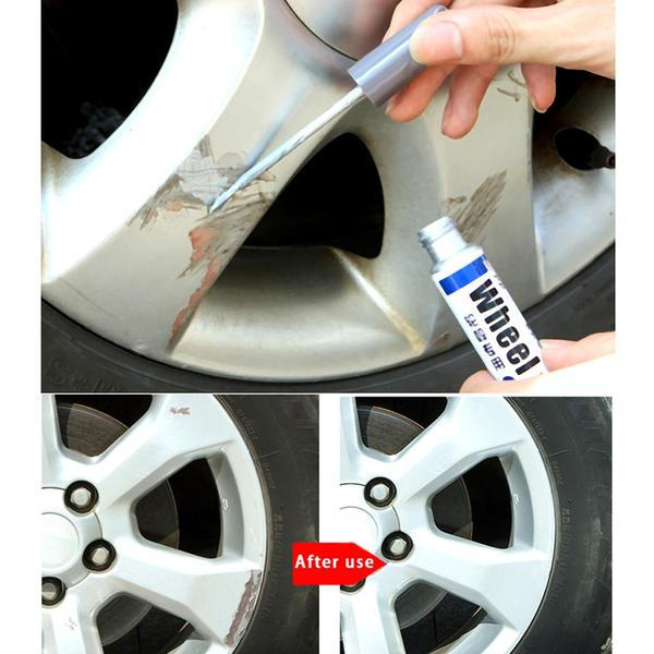 Car Wheel Scratch Filler Painting Pen + Car Silver Wheel Scratch Repair Pen COMBO