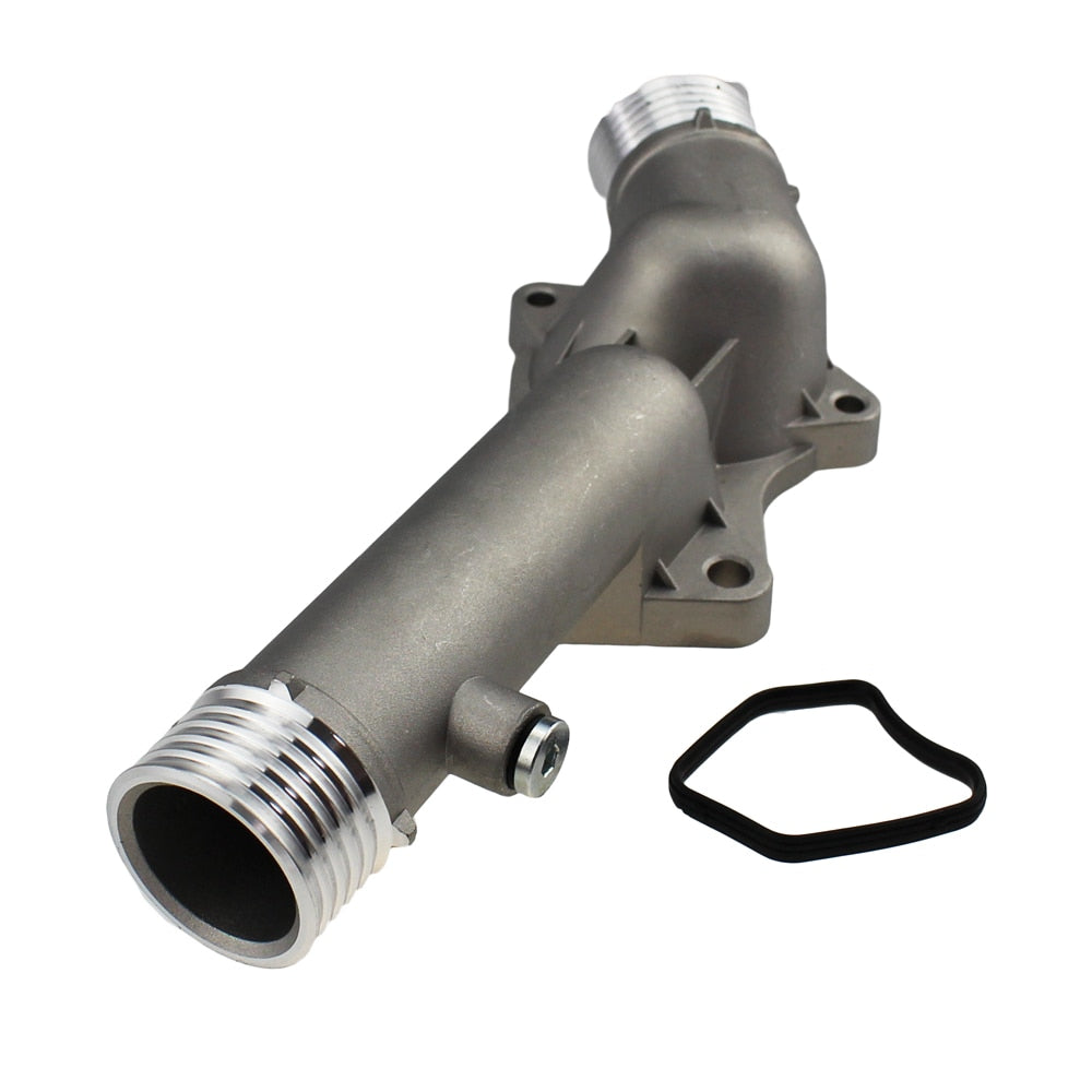 Aluminum Engine Coolant Thermostat Housing For BMW 5 E39 528i