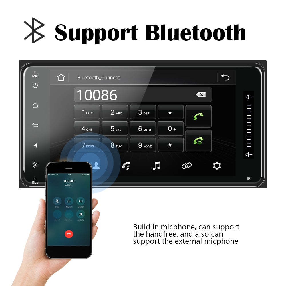 Car Stereo System Compatible with Toyota Android 8.1 Car Multimedia Stereo + 8IR Rear View Camera, GPS Bluetooth AUX USB Car Audio