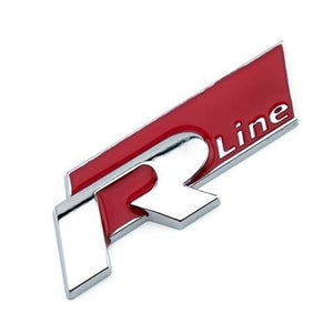 Rline Sticker Emblem R line Badge for Volkswagen VW GOLF GTI Beetle Polo CC Passat