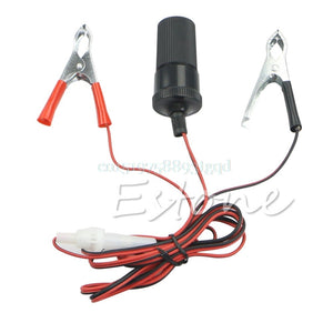 Car Battery Terminal Clip-on Cigarette Lighter Power Socket Adaptor 12V