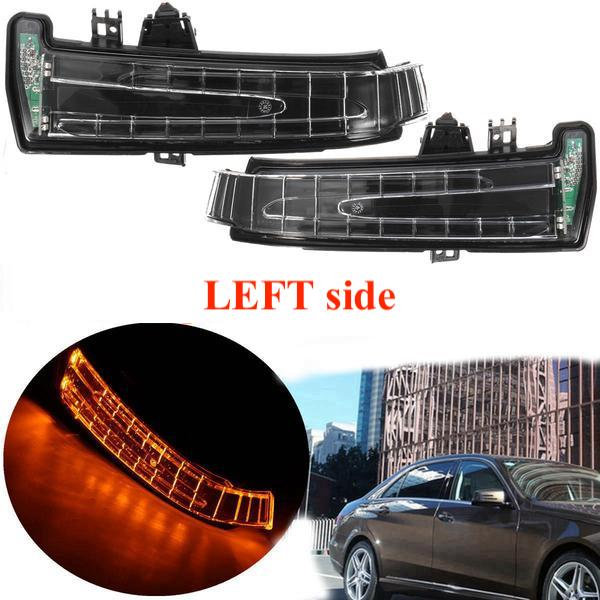 (LEFT) Mercedes Rear View Mirror Indicator Lamp Turn Signal Light Lens For Mercedes W204 W212 W221 2010-2013