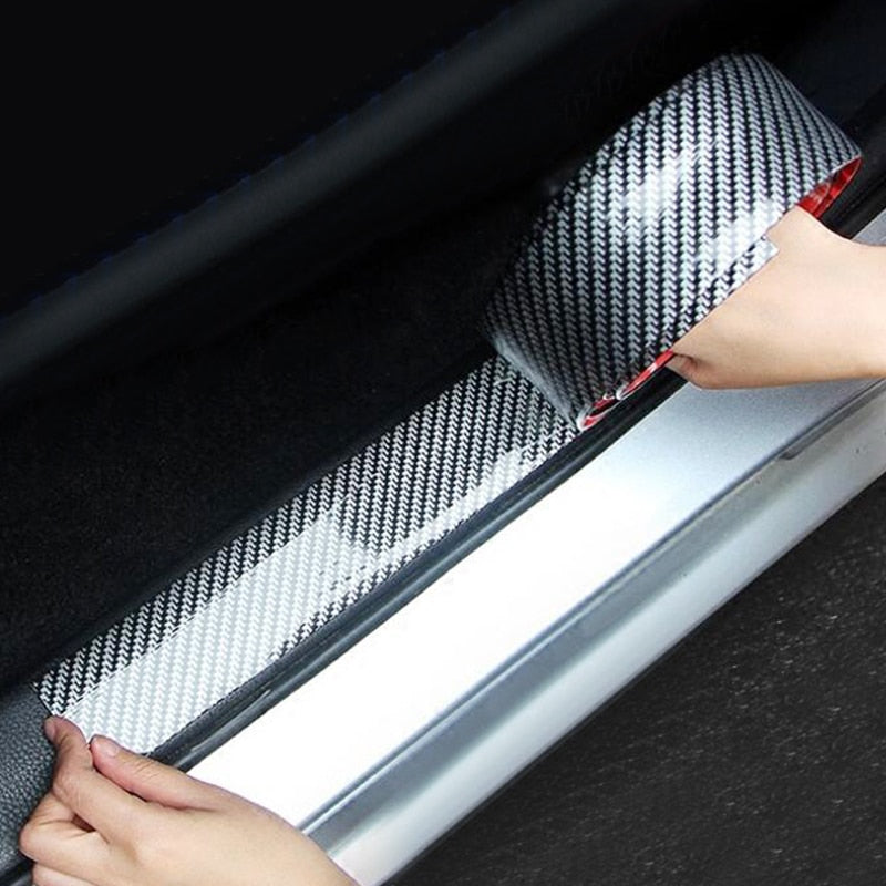 Car Stickers 5D Carbon Fiber Rubber Door Sill Protector For KIA Toyota BMW Audi Mazda Ford Hyundai Accessories