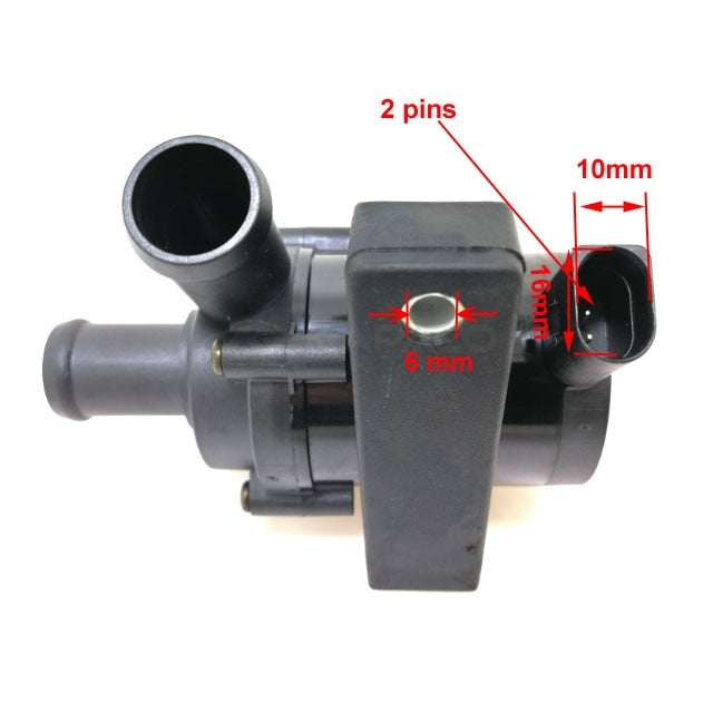 Auxiliary Water Pump for Jetta Golf CC Passat B5 B6 Audi A3 Volkswagen VW Electric Car Auto 12V