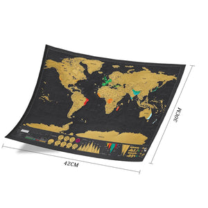 World Map - Scratch off Personalised Travel Map in TUBE