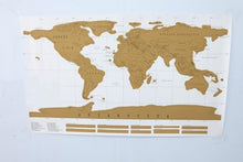 Deluxe Erase White scratch map world map Decoration Scratch Travel Map 88x52