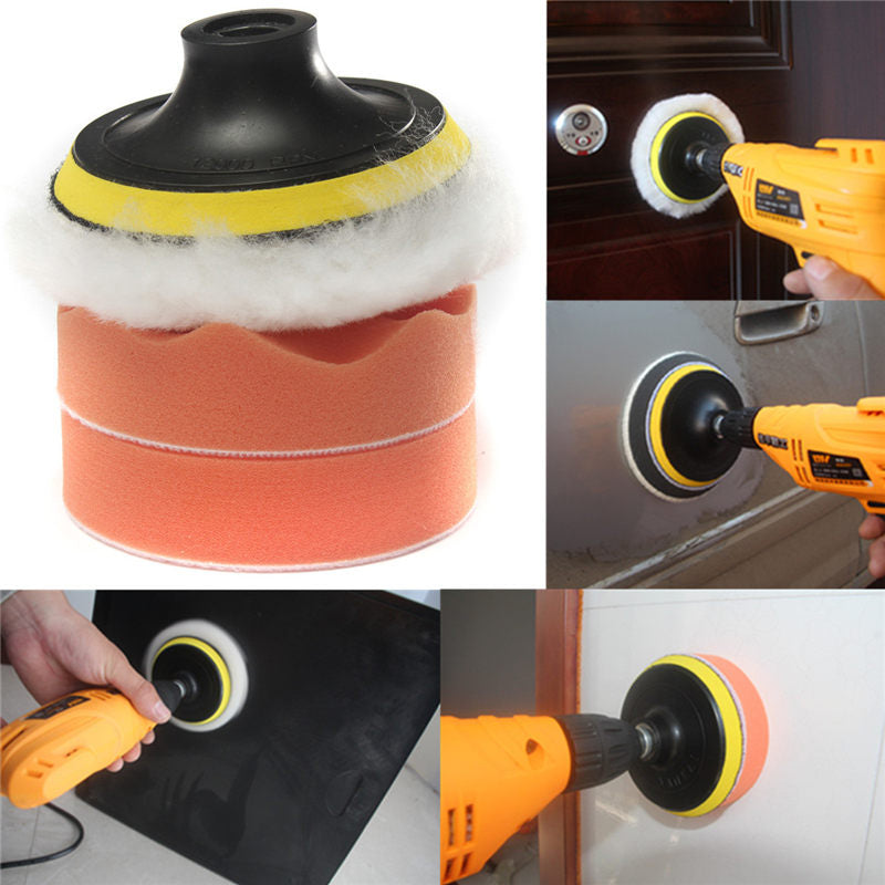 4 Inch Gross Polish Polishing Buffer Pad Kit With Drill Adapter For Car Polish